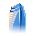 City skyscraper in blue colors Cityscape vector image vector image