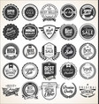 collection retro vintage badges and labels vector image vector image