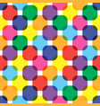 color rounded squares seamless pattern vector image vector image