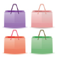 Colorful shopping bags vector image vector image