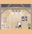 comfortable coworking freelance office design vector image vector image