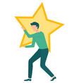 company status star symbol best service vector image