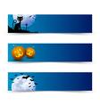 creepy halloween banners vector image vector image