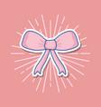 cute ribbon bow icon vector image