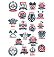 Dartboards with darts symbols for sporting design vector image vector image