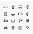 Devices and gadgets icons set vector image vector image