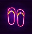 flip flops neon label vector image vector image