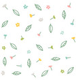 floral collection with flowers and leaves vector image vector image
