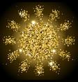 gold shining sun vector image vector image