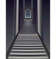 Gothic Stairs Interior vector image vector image