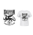 griffin or gryphon animal mascot t-shirt print vector image