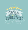 hand lettering joy of christmas with stars vector image vector image