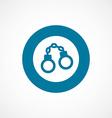 handcuffs bold blue border circle icon vector image vector image