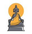 indian buddha deity for travel landmarks vector image