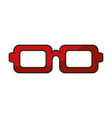 isolated red glasses icon vector image
