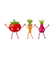 kawaii vegetable icon image vector image