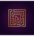 Labyrinth abstract gold icon vector image vector image