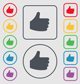 Like Thumb up icon sign symbol on the Round and vector image vector image