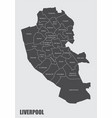 liverpool map with boroughs vector image vector image