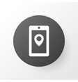 map app icon symbol premium quality isolated vector image