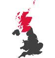 map of united kingdom - scotland vector image