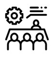 meeting training icon outline vector image vector image