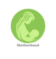 motherhood concept logo design with woman vector image