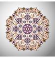 ornamental colorful geometric mandala in aztec vector image