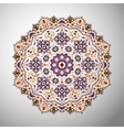 Ornamental olorful geometric mandala in aztec vector image