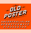 pop art font for posters comic retro game vector image vector image