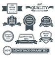 Quality labels black set vector image vector image