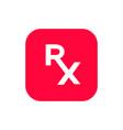 rx prescription symbol for medical design vector image