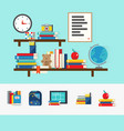 school books concept vector image