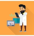 Scientist at Work Flat Style vector image vector image