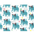 seamless with funny elephants on vector image vector image