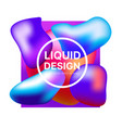 set background style abstract liquid splash bubble vector image vector image