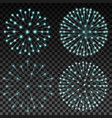 set of fireworks on transparent background vector image vector image