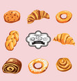 Set of sweet pastries and cupcakes icons