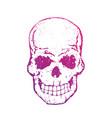 skull with gradient on white t-shirt print vector image vector image