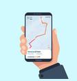 smartphone navigation app gps mobile vector image