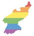 spectrum pixel lgbt north korea map vector image