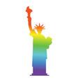 statue of liberty colors of lgbt flag landmark vector image