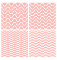 tile seamless pattern set with wavy background vector image vector image