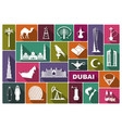 traditional symbols of uae vector image