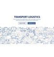 transport logistics banner design vector image
