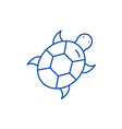 turtle line icon concept turtle flat vector image vector image