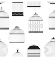 Vintage Birdcages Silhouettes Seamless Pattern vector image