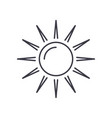 sun line icon sign on vector image