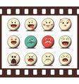 Set of retro emoji emoticons vector image