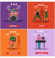 set of musician and singers Music rock vector image